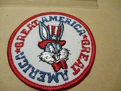 Vintage Bugs Bunny GREAT AMERICA Warner Bros. Bicentennial Embroidered Patch-NEW