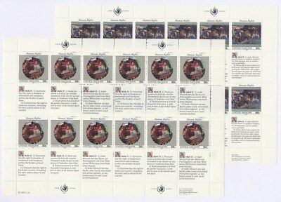[F91778] United Nations 1991 2 good sheets Very Fine MNH