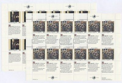 [F91779] United Nations 1992 2 good sheets Very Fine MNH