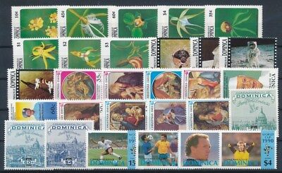[G89575] Dominica good lot Very Fine MNH stamps