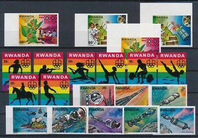 [G89602] Rwanda good imperforated lot Very Fine MNH stamps
