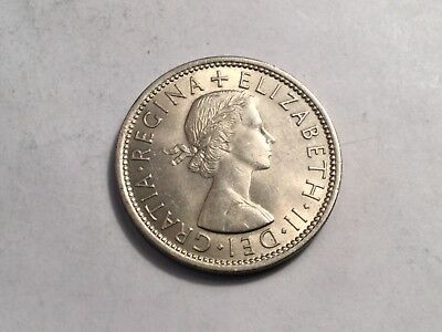 GREAT BRITAIN 1966 2 shilling coin uncirculated