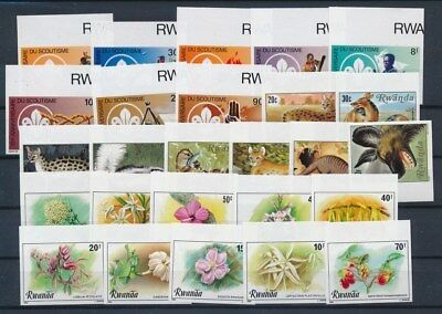 [G91157] Rwanda good imperforated lot Very Fine MNH stamps