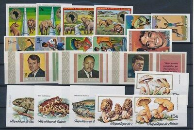 [G91165] Guinea good imperforated lot Very Fine MNH stamps