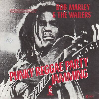 """7""""-   Bob Marley And The Wailers = Jamming / Punky Reggae Party............1977"""