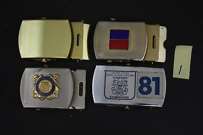 Coast Guard Auxiliary Related Belt Buckle, Vintage Militaria Lot 1