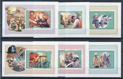 [G91742] Guinea 2002 Firefighters good set of 6 sheets Very Fine MNH