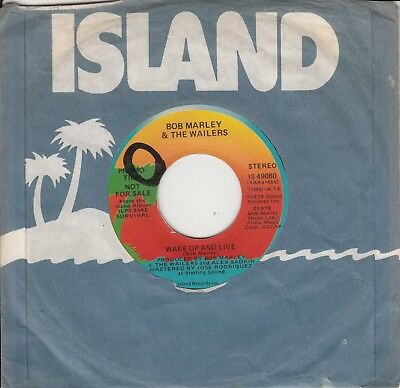 """7""""-   Bob Marley And The Wailers = Wake Up And Live  (Promotion) .........1979"""