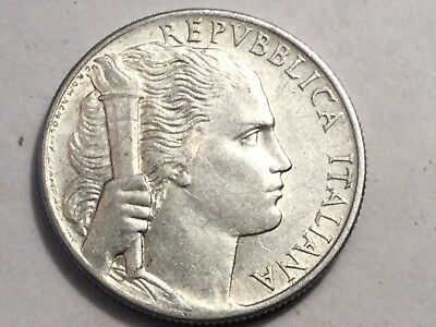 ITALY 1950 5 Lira coin about uncirculated