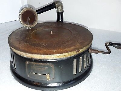 Rare Vintage Small Table Top Stewart 78 Rpm Phonograph Gramophone Record Player