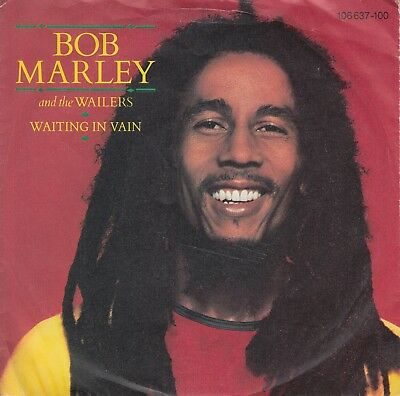 """7""""-   Bob Marley And The Wailers = Waiting In Vain / Blackman Redemption"""