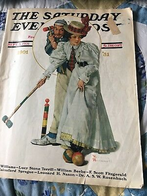 Saturday Evening Post September 5, 1931 NORMAN ROCKWELL COVER Full Mag