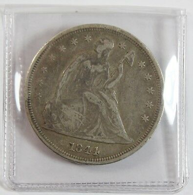 1844 $1 Seated Liberty Silver Dollar Early USA Type Coin