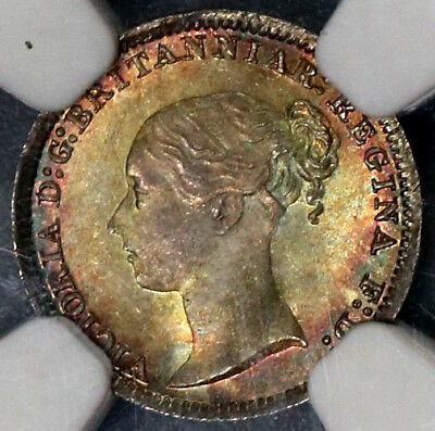 1883 NGC MS 67 Victoria Maundy Penny Great Britiain Silver 12K Coin (18102102C)
