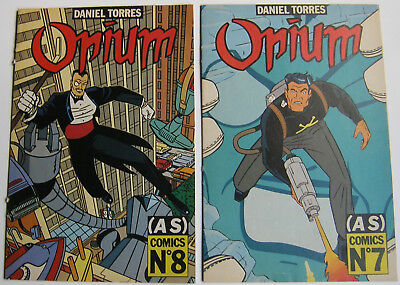 Lot 2 Fascicules Opium - (As) Comics N° 7 / N° 8 - Daniel Torres