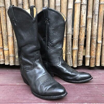 cd0f214620a TONY LAMA OL Buck 6156 Black Leather Cowboy Western Boots Mens 8.5 D USA
