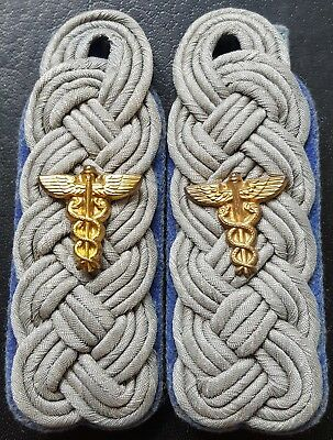 ✚7546✚ German army WW2 Wehrmacht shoulder boards Captain medic corps