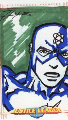 Justice League of America Archives JLA Color Sketch Card by Haynes - The Atom