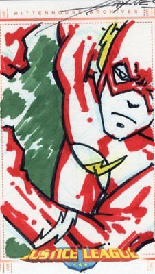 Justice League of America Archives JLA Color Sketch Card by Haynes - Flash