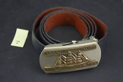 USCG US Coast Guard Auxiliary 9th Dist. Belt and Buckle, Vintage Militaria Lot 7