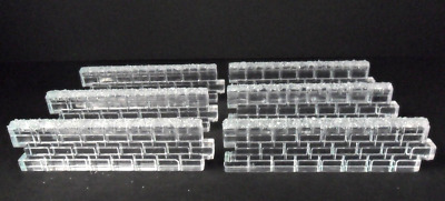 Dept 56 Village Accessories - Ice Crystal Walls 56717 Set 6 New In Box