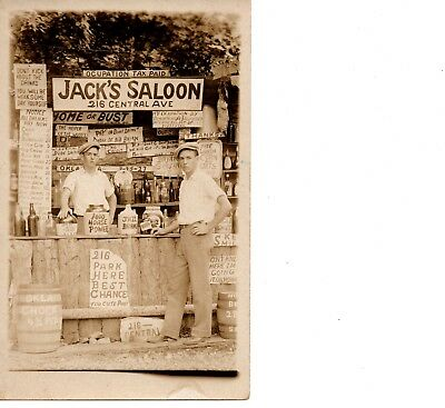 Rppc ~ Comic Prohibition~ Weak Drinks Beer ~ Roadside Bar Saloon Diner ~ 270
