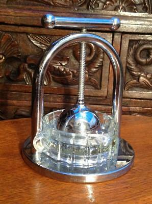 Vintage Art Deco Chrome Juicer Cocktail Bar Prop Superb Quality 30's 40's Chic