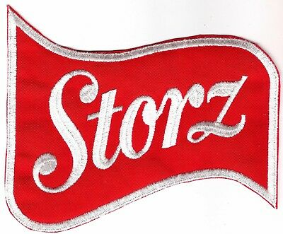 Storz beer embroidered delivery uniform back patch. Omaha brewery classic