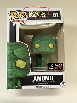 Funko Pop!**RARE MISPRINT** Games League of Legends Amumu Gamestop Exclusive