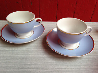 Pair of Royal Doulton Bruce Oldfield Blue & White Cup and Saucer Doulton 2004