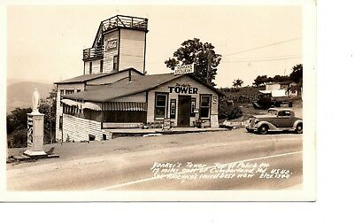 Rppc ~ Yonkers Diner Roadside Cafe ~ Coca Cola Coke Signs ~ Gas Oil ~ 191