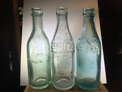 ATLANTA, GRIFFIN, MACON, GA. script straight side Coca-Cola  bottles  loc 12