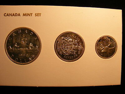 Canada 1960 Mint Set, 4 Silver Coins in this set