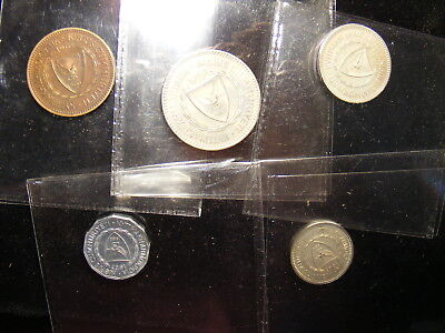 Cyprus 1963 Proof Set with box, Coins (as do most sets) have tone