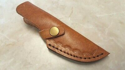 Brown Leather Sheath for Fixed Blade Knife