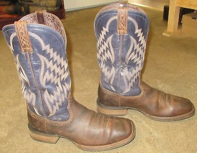 5245026312f MENS ARIAT TYCOON Western Brown Leather Cowboy Boots sz 12 D