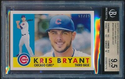 2017 Topps 65Th Anniversary Kris Bryant Kb-1960 Set Break 51/65 Bgs 9.5!