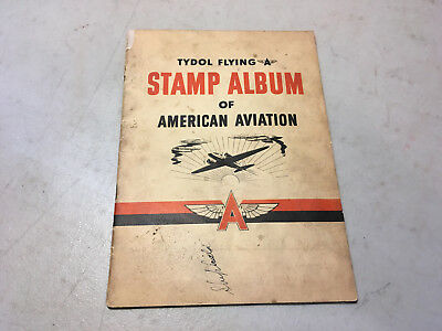 Tydol Flying A Stamp Album of American Aviation Complete Used EP27