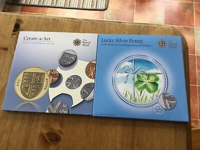 2009 Royal Mint Create a Set  Shield of Arms BU £1 + silver 1p + gold plate 20p