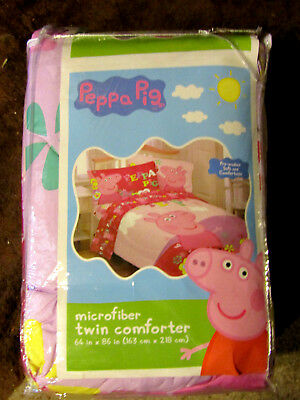 Girls Peppa Pig Twin Microfiber Comforter- Pink New In Package
