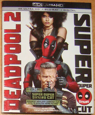 DEADPOOL 2 Super Duper Cut 4K UHD Blu-Ray+slipcover theatrical+extended