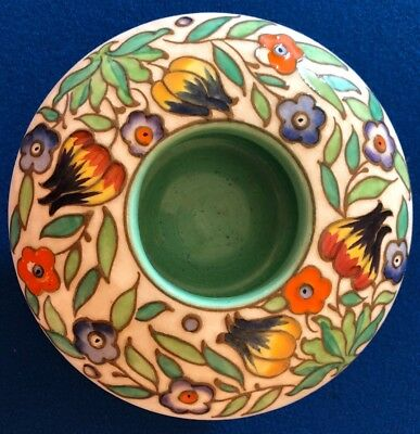 Charlotte Rhead Art Deco Bunsley Ware Embossed Rose Bowl England.
