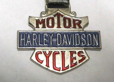 Harley-Davidson Motorcycles Pocket Watch Fob with Leather Strap