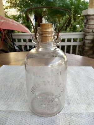 2 for 1: Jones Bros Blue Grass Belle Vinegar Bottle 1908 /Magnesium Bottle1920's
