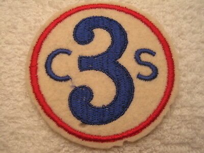 WW I US ARMY 3rd CORPS SCHOOL FELT WITH CHEESE CLOTH BACKING AUTHENTIC PATCH