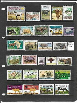 Cattle on stamps mint selection (F)