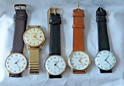 Job Lot Of 5 Vintage Mechanical Hand Winding Watches, Sekonda X 3 +2 Others