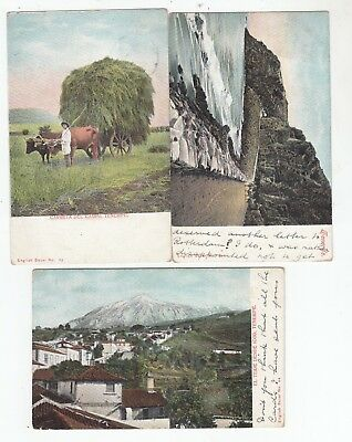 Tenerife 3 Postcards used Stamps have been removed
