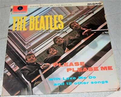 THE  BEATLES LP PLEASE PLEASE ME PARLOPHONE mono PMC1202 1963 421/2-1N EARLY