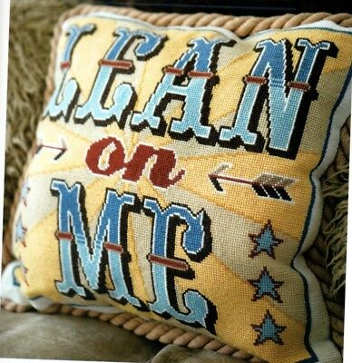 Cross stitch chart. Emily Peacock's 'Lean on Me' cushion.